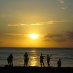 ハワイのサンセットタイム